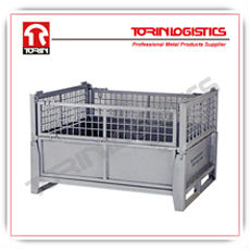 Steel storage collapsible wire containers (L800*W500 mm/ OEM)
