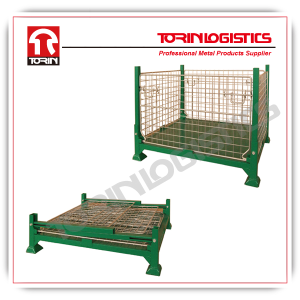 Heavy duty foldable Iron wire container (L1000*W800 mm/OEM)