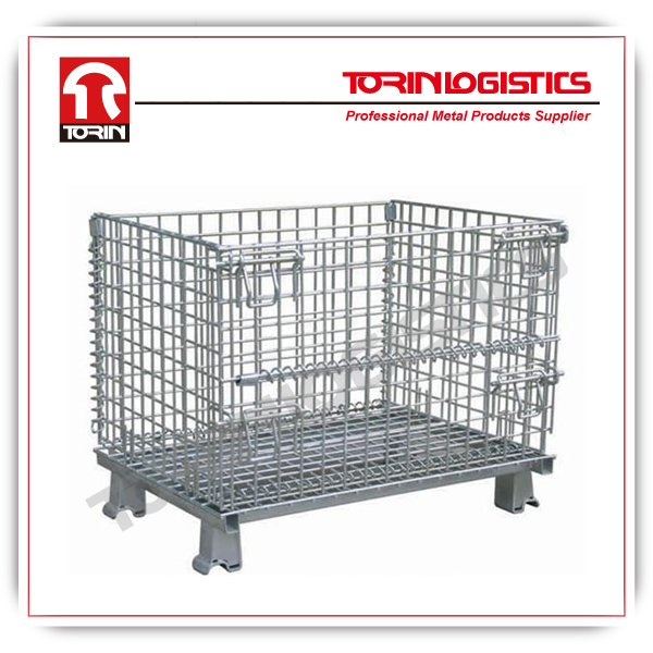 Galvanized steel pallet metal cage wine storage roll containers in Cargo & Stora