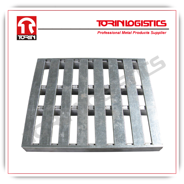 heavy-duty steel container stacking rolling pallets