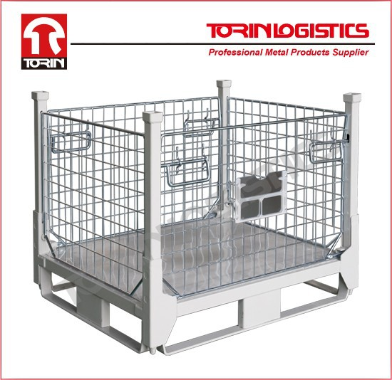 High quality Collapsible Steel Stillage, Storage Cage, Stackable Warehouse Conta