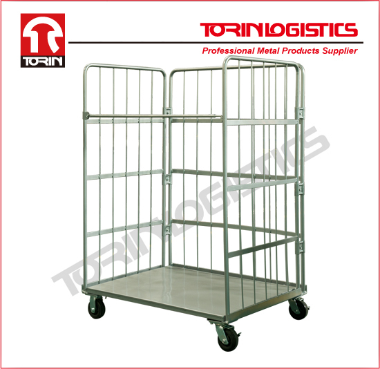 Supermarket Roll Conatiner Warehouse Roll Trolley