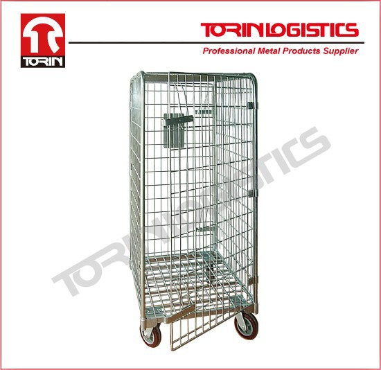 steel wire mesh cargo storage roll container (L710*W810 mm/OEM)