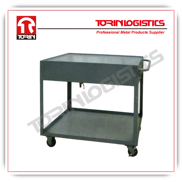 heavy duty multi-function warehouse material handing trolley